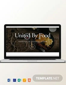 Food Blog Header Template