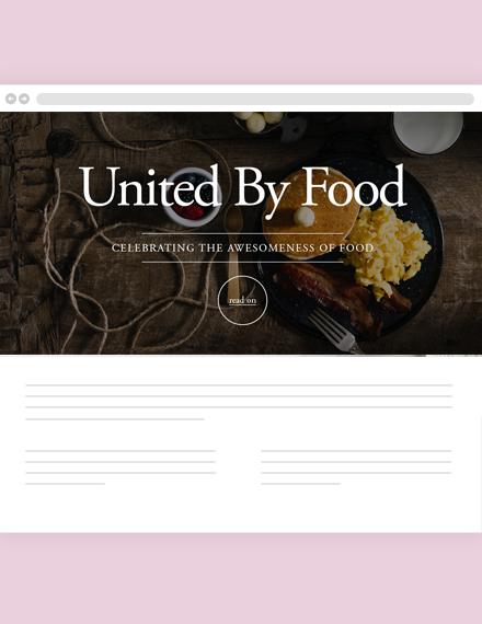 Food Blog Header Template