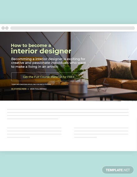 Free Interior Blog Designer Template