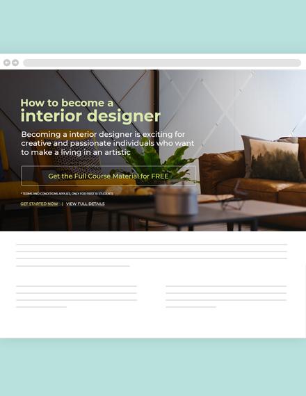 Interior Blog Designer Template