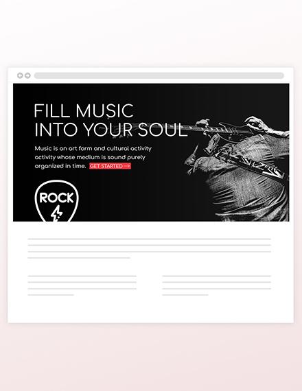 Sample Musician Blog Header