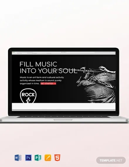 Musician Blog Header Template