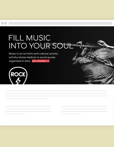 Musician Blog Header Template