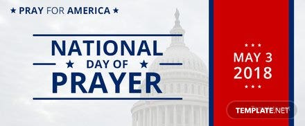 Free National Day of Prayer Facebook Cover Template