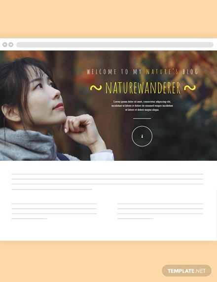 Nature's Blog Header Template
