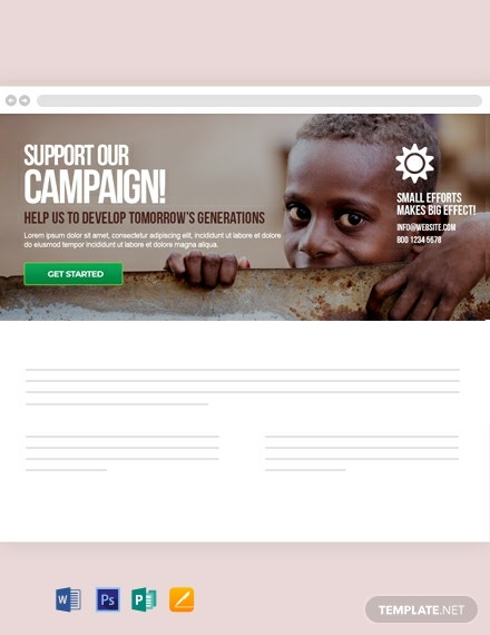 Free Non-Profit Blog Header Template