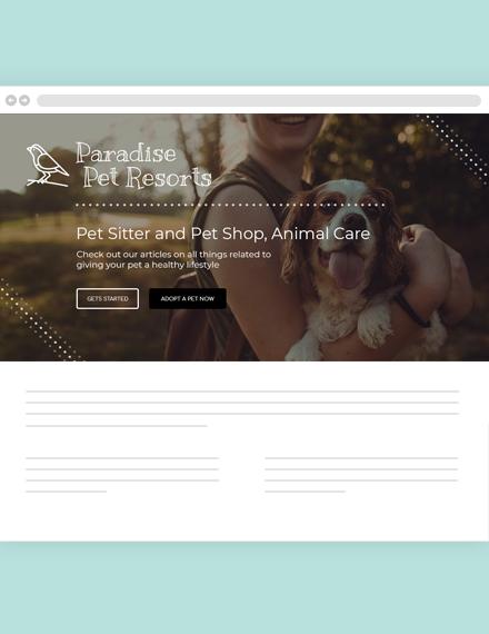 Pets Blog Header Template