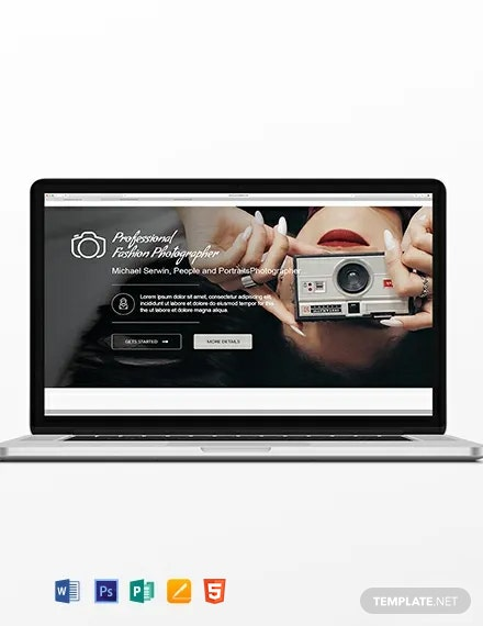 Photographer Blog Header Template
