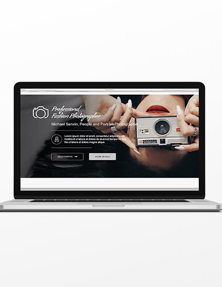 Photographer Blog Header Template