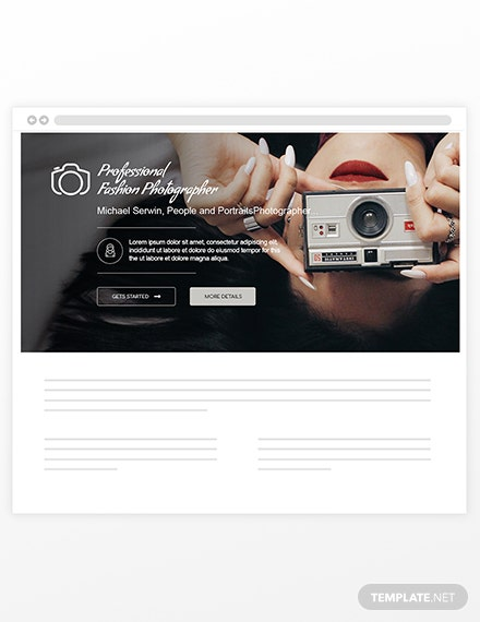 Sample Photographer Blog Header