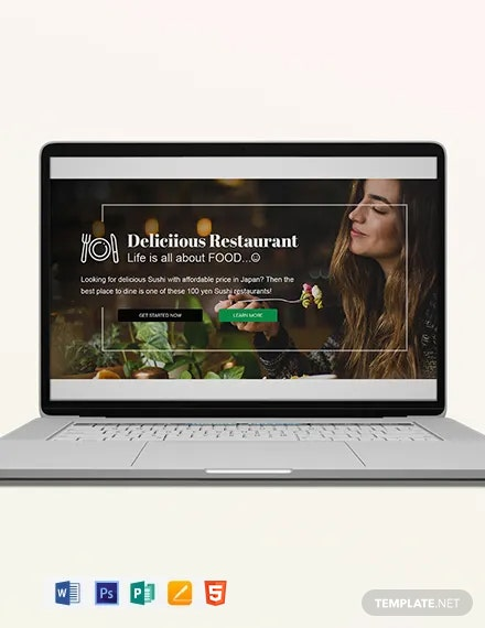 Restaurant Blog Header Template