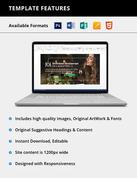 Editable Restaurant Blog Header