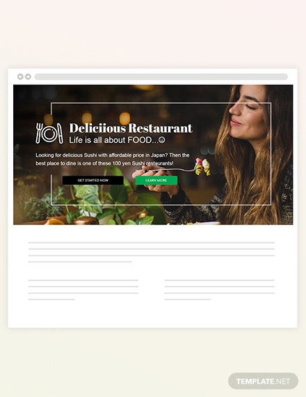 Sample Restaurant Blog Header