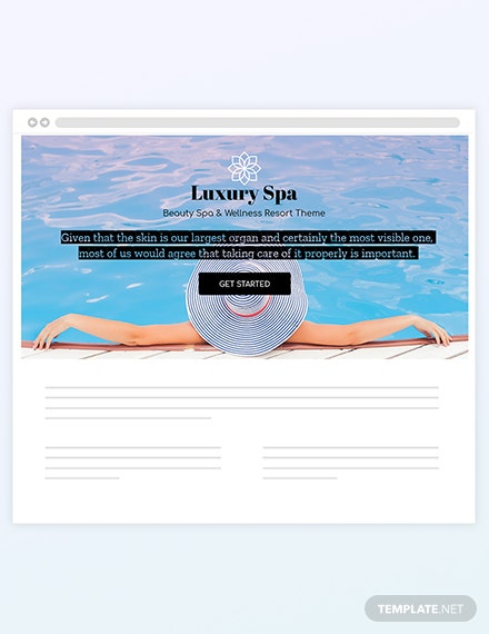 Spa Blog Header Template  - HTML5, Word, Apple Pages, PSD, Publisher