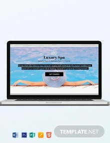 Spa Blog Header Template