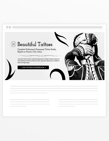 Sample Tattoo ArtistBlog Header