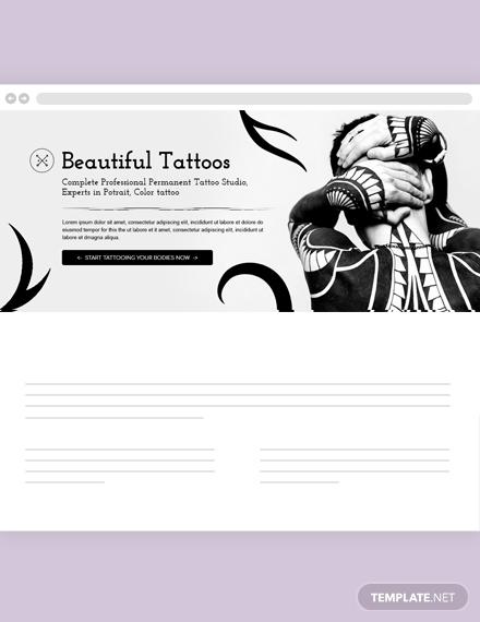 Tattoo Artist Blog Header Template