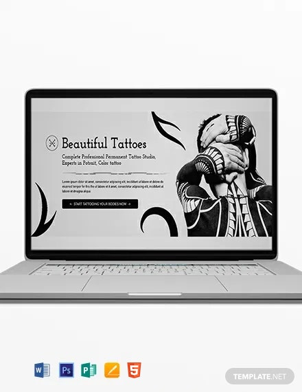 Tattoo Artist Blog Header Template