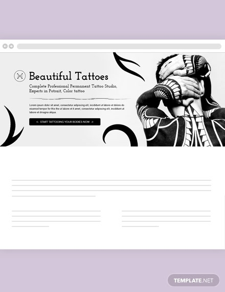 Free Tattoo Artist Blog Header Template