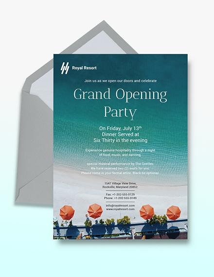 Royal Resort Invitation Download