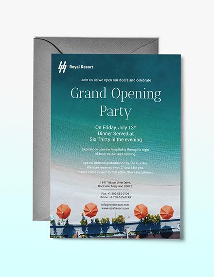 Royal Resort Invitation Template