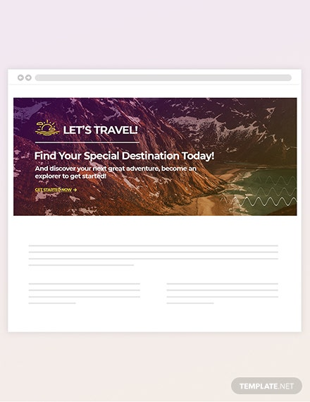 Sample Travel Blog Header
