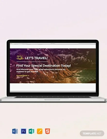 Free Travel Blog Header Template