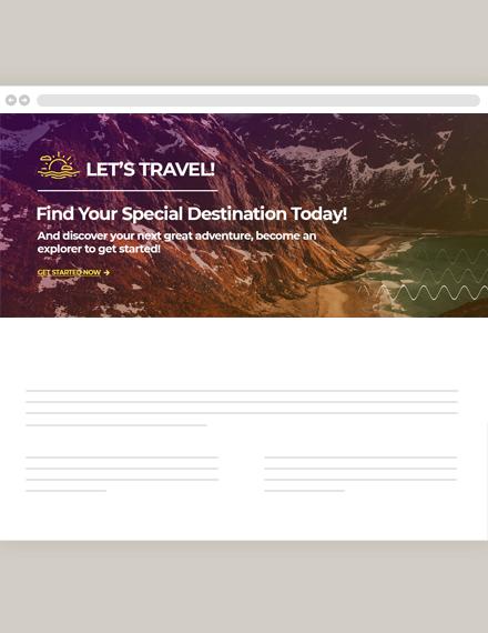 Travel Blog Header Template