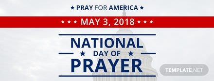 Free National Day of Prayer Facebook Event Cover Template