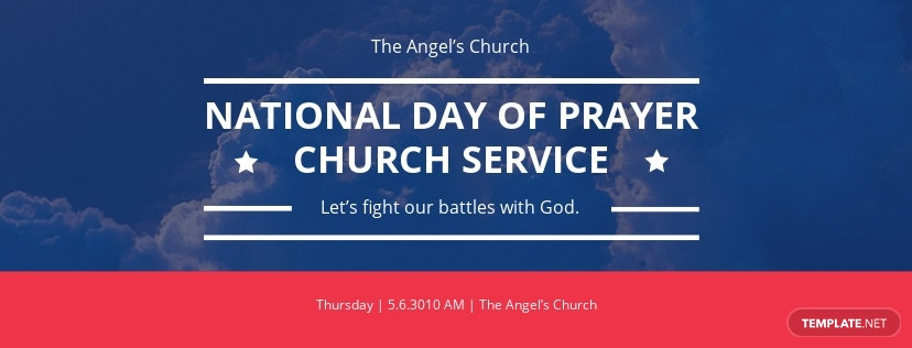 National Day of Prayer Facebook Event Cover Template