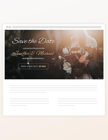 Wedding Blog Header Sample