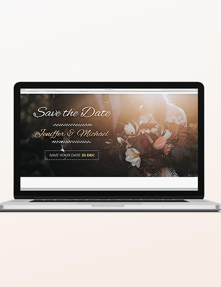 Wedding Blog Header Template