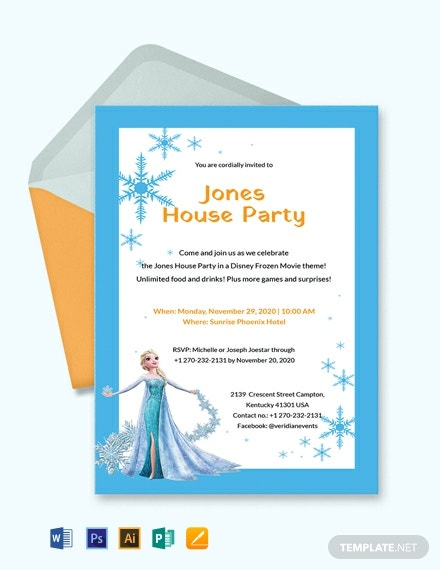 Free Frozen Party Invitation Template