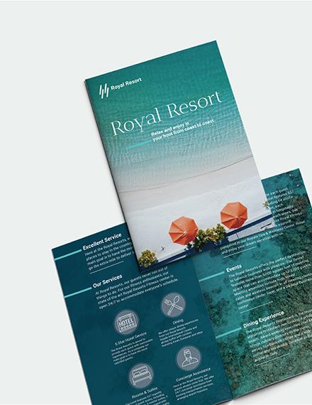 Sample Royal Resort Bi Fold Brochure