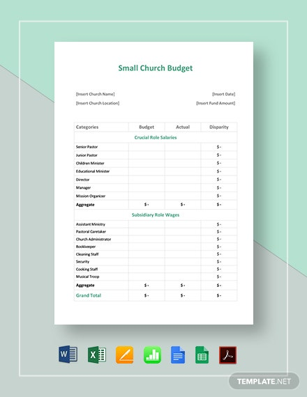 47  free word budget templates