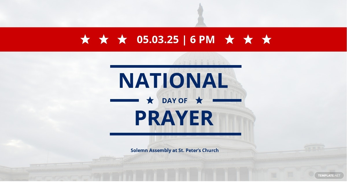 National Day of Prayer Facebook Post Template