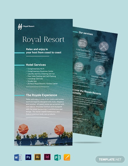 Royal Resort DL Card Template