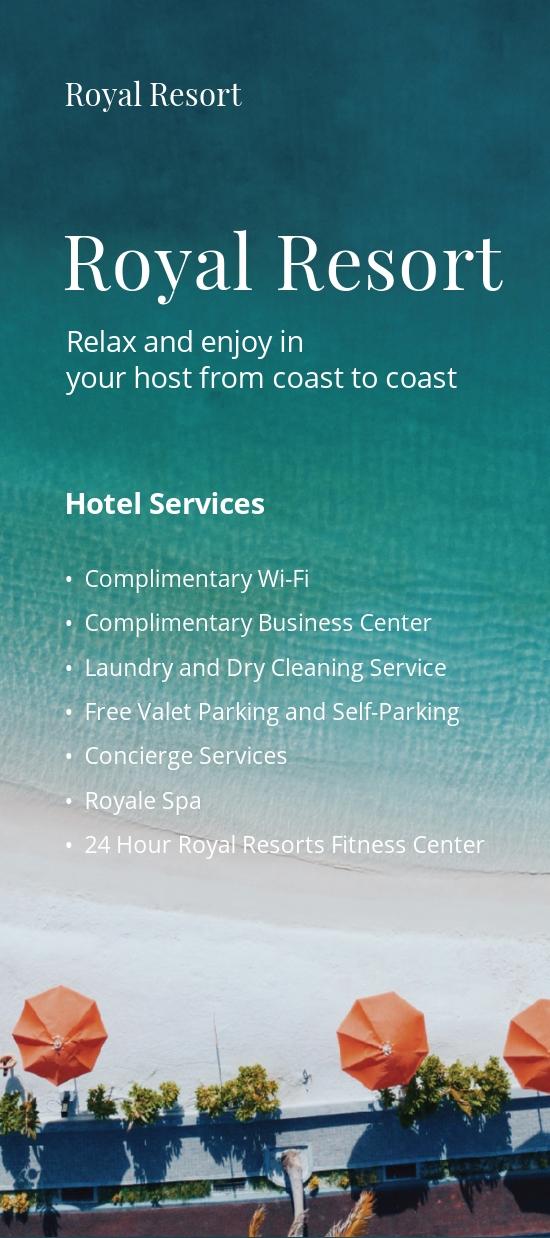 Royal Resort DL Card Template