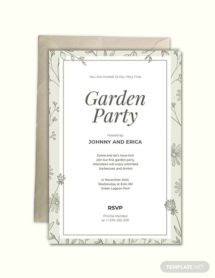 Garden Party Invitation Template