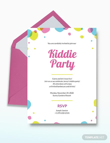 Kids Party Invitation Download