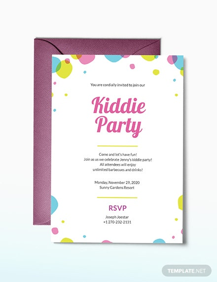 Kids Party Invitation Template