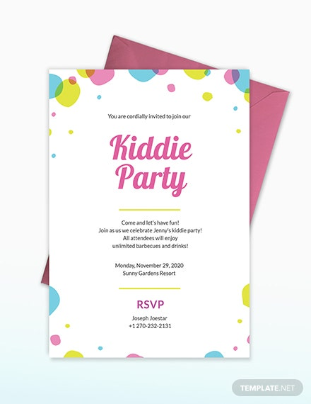 Sample Kids Party Invitation