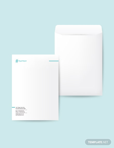 Royal Resort Envelope Template