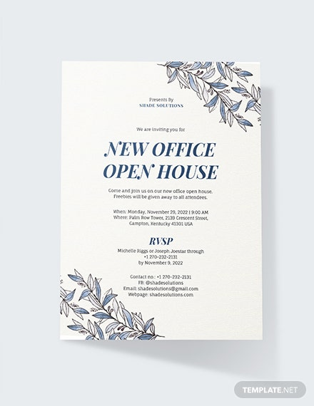 Sample Office Invitation