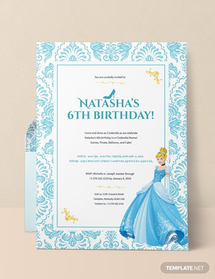 Cinderella Invitation Template