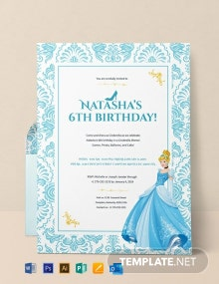 Free Cinderella Birthday Invitation Template