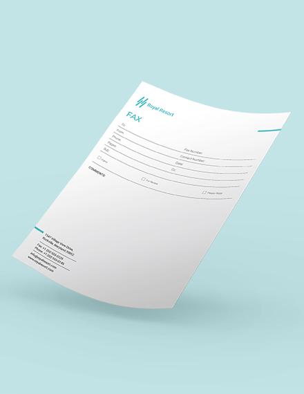 Royal Resort Fax Paper Download