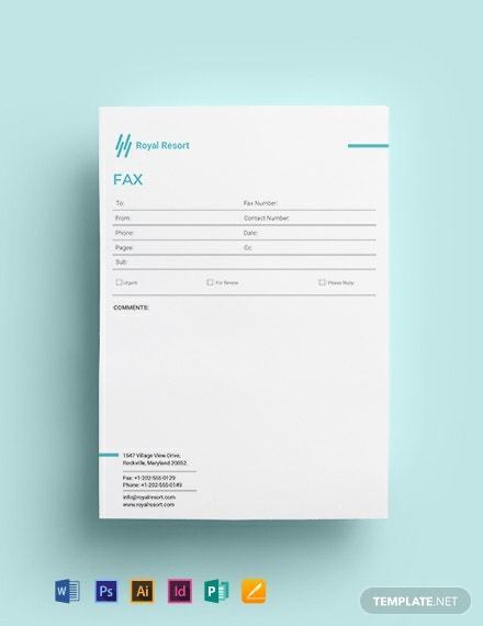 Royal Resort Fax Paper Template