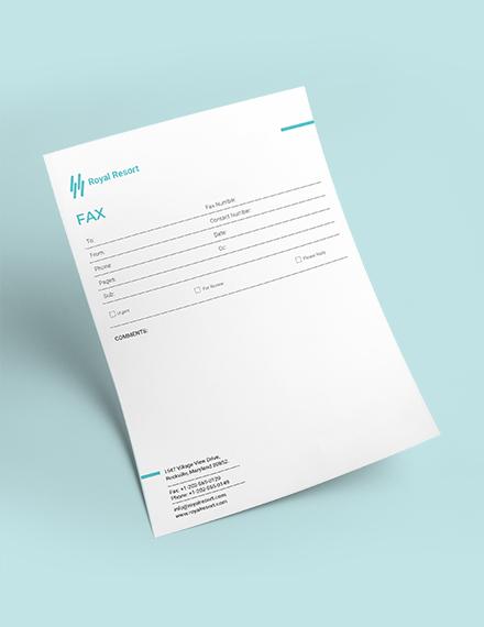 Sample Royal Resort Fax Paper