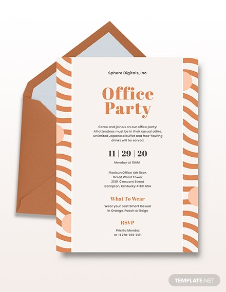 Office Party Invitation Download